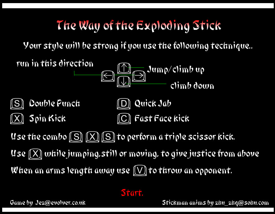 Spiel: way of the exploding stick